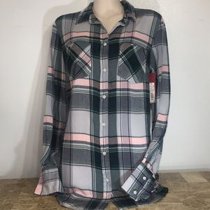 Merona checkered button down collar shirt